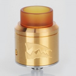 Deathwish Death Wish Style RDA Rebuildable Dripping Atomizer w/ BF Pin - Gold, Stainless Steel, 24mm Diameter