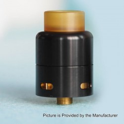 Authentic Cthulhu MOD Azathoth RDA Rebuildable Dripping Atomizer w/ BF Pin - Black, Stainless Steel, 24mm Diameter