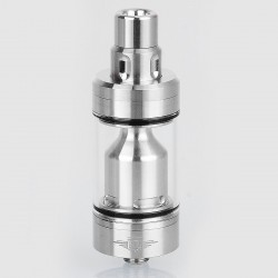 Coppervape Skyline Style RTA Rebuildable Tank Atomizer - Silver, 316 Stainless Steel, 4ml, 22mm Diameter