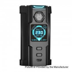 Authentic Sigelei Snowwolf Vfeng 230W VW Variable Wattage Box Mod - Black, 10~230W, 2 x 18650