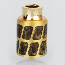 Negus Style RDA Rebuildable Dripping Atomizer - Yellow, Brass, 24mm Diameter
