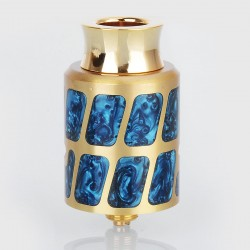 Negus Style RDA Rebuildable Dripping Atomizer - Blue, Brass, 24mm Diameter