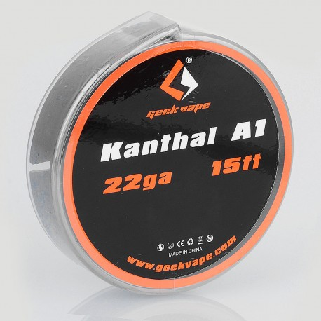 Authentic Geekvape Kanthal A1 Heating Resistance Wire for RBA / RDA / RTA Atomizers - 22GA, 0.65mm x 5m (15 Feet)