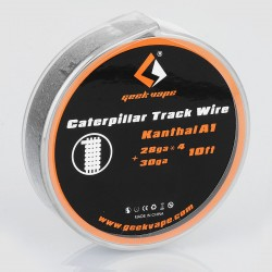 Authentic Geekvape Kanthal A1 Caterpillar Track Heating Wire for RBA / RDA / RTA - 28GA x 4 + 30GA, 3m (10 Feet)