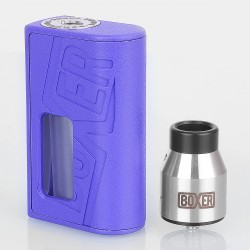 Boxer Style BF Squonk Mechanical Mod + Boxer Style RDA Kit - Purple, ABS + Stainless Steel, 1 x 18650