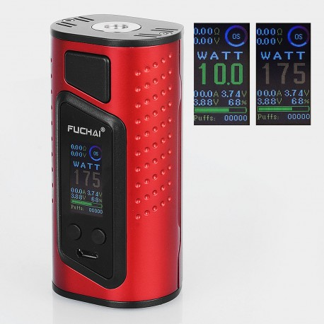 Authentic Sigelei Duo-3 2-Cover Version 255W TC VW Variable Wattage Box Mod - Red, 10~255W, 2 / 3 x 18650