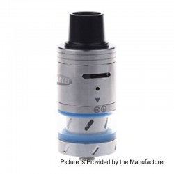 Authentic Sigelei Meteor RDTA Rebuildable Dripping Tank Atomizer - Silver + Blue, Stainless Steel, 4ml, 24mm Diameter