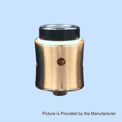 Sith B2 Style RDA Rebuildable Dripping Atomizer w/ BF Pin - Brass, Brass, 24mm Diameter