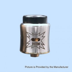 Sith B2 Style RDA Rebuildable Dripping Atomizer w/ BF Pin - Silver, Stainless Steel, 24mm Diameter