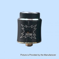 Sith B2 Style RDA Rebuildable Dripping Atomizer w/ BF Pin - Black, Stainless Steel, 24mm Diameter