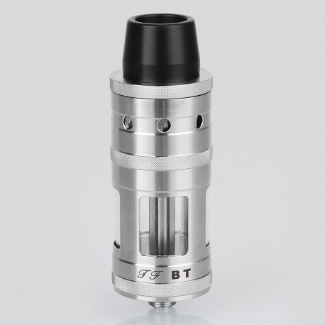 ShenRay SER Taifun BT Style RTA Rebuildable Tank Atomizer - Silver, 316 Stainless Steel, 5ml, 23mm Diameter