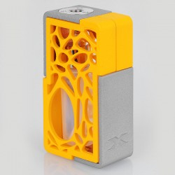Authentic YiLoong SQ XBOX MOD-01 3D Printed Squonk Mechanical Box Mod - Orange, 1 x 18650, 13ml Dropper Bottle