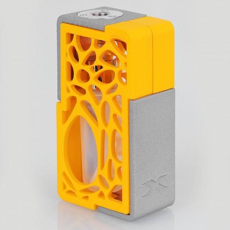 Authentic YiLoong SQ XBOX MOD-01 3D Printed Squonk Mechanical Box Mod - Orange, 1 x 18650, 13ml Dropper Bottle
