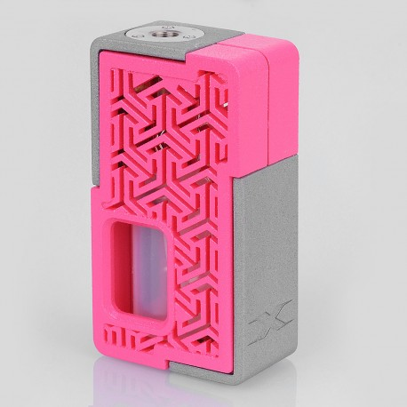 Authentic YiLoong SQ XBOX MOD-02 3D Printed Squonk Mechanical Box Mod - Pink, 1 x 18650, 13ml Dropper Bottle