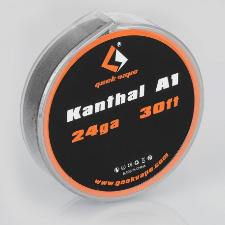 Authentic Geekvape Kanthal A1 Heating Resistance Wire for RBA / RDA / RTA Atomizers - 24GA, 0.5mm x 10m (30 Feet)