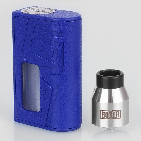 Boxer Style BF Squonk Mechanical Mod + Boxer Style RDA Kit - Blue, ABS + Stainless Steel, 1 x 18650