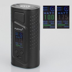 Authentic Sigelei Duo-3 2-Cover Version 235W TC VW Variable Wattage Box Mod - Black, 10~235W, 2 / 3 x 18650