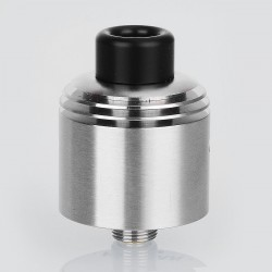 SXK Hussar Style RDTA Rebuildable Dripping Tank Atomizer - Silver, 316 Stainless Steel, 22mm Diameter
