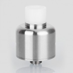 YFTK Soul S Style RDA Rebuildable Dripping Atomizer w/ BF Pin - Silver, 316 Stainless Steel, 22mm Diameter