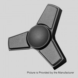 Tri-spinner Fidget Toy Focus EDC Toy - Black, Stainless Steel, Ceramic Bearings