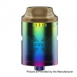 Authentic Tigertek Springer X RDA Rebuildable Dripping Atomizer - Rainbow, Stainless Steel, 24mm Diameter