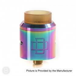 Authentic Augvape Druga RDA Rebuildable Dripping Atomizer - Rainbow, Stainless Steel, 24mm Diameter