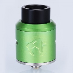 Goon 1.5 Style RDA Rebuildable Dripping Atomizer - Green, Aluminum, 24mm Diameter