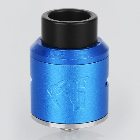 Goon 1.5 Style RDA Rebuildable Dripping Atomizer - Blue, Aluminum, 24mm Diameter