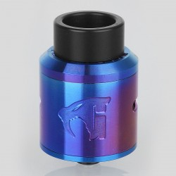 Goon 1.5 Style RDA Rebuildable Dripping Atomizer - Blue, Stainless Steel, 24mm Diameter