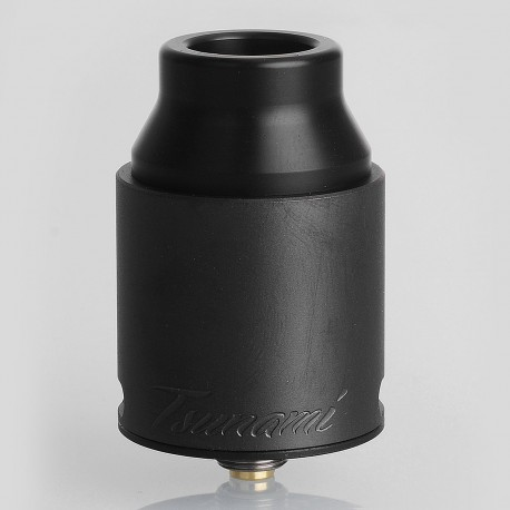 Authentic GeekVape Tsunami Pro 25 RDA Rebuildable Dripping Atomizer w/ BF Pin - Black, Stainless Steel, 25mm Diameter