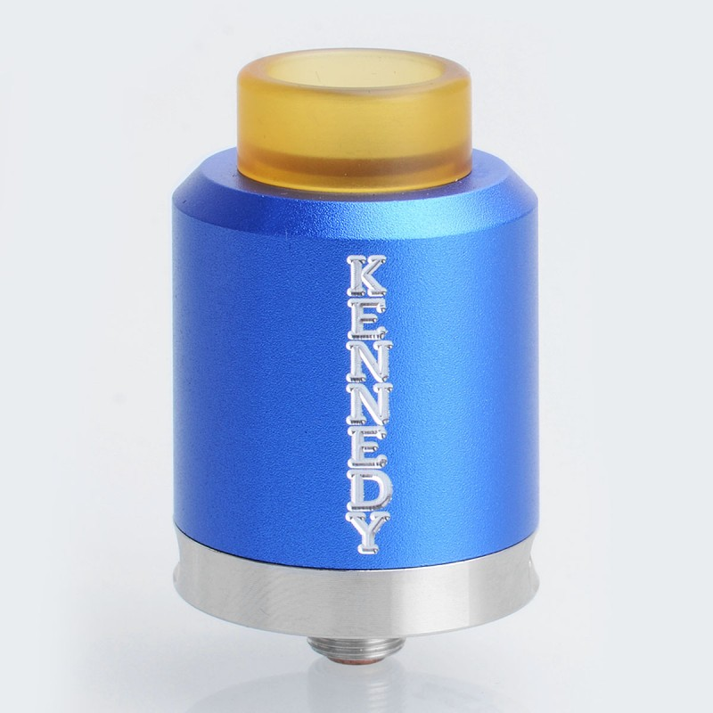 Kennedy 25 Style RDA Rebuildable Dripping Atomizer - Blue, Aluminum, 25mm Diameter