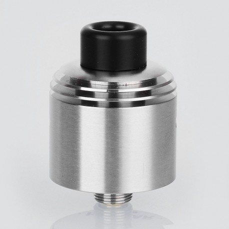 SXK Hussar Style RDTA Rebuildable Dripping Tank Atomizer w/ BF Pin - Silver, 316 Stainless Steel, 22mm Diameter
