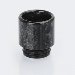 Authentic Vapjoy 810 Wide Bore Drip Tip for TFV8 / TFV12 / Goon / Kennedy - Black, Resin, 18mm