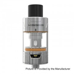Authentic KAEES Pacer RTA Rebuildable Tank Atomizer - Silver, Stainless Steel, 3ml, 22mm Diameter
