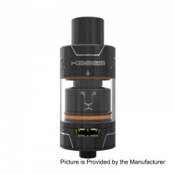 Authentic KAEES Pacer RTA Rebuildable Tank Atomizer - Black, Stainless Steel, 3ml, 22mm Diameter