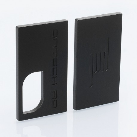 Replacement Front + Back Cover Plates for Icarus Style BF Squonk Mechanical Box Mod - Black, Aluminum