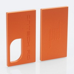 Replacement Front + Back Cover Plates for Icarus Style BF Squonk Mechanical Box Mod - Orange, Aluminum