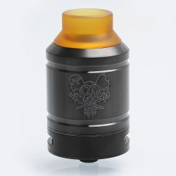 Sherman Style RDA Rebuildable Dripping Atomizer w/ BF Pin - Black, Stainless Steel, 28mm Diameter