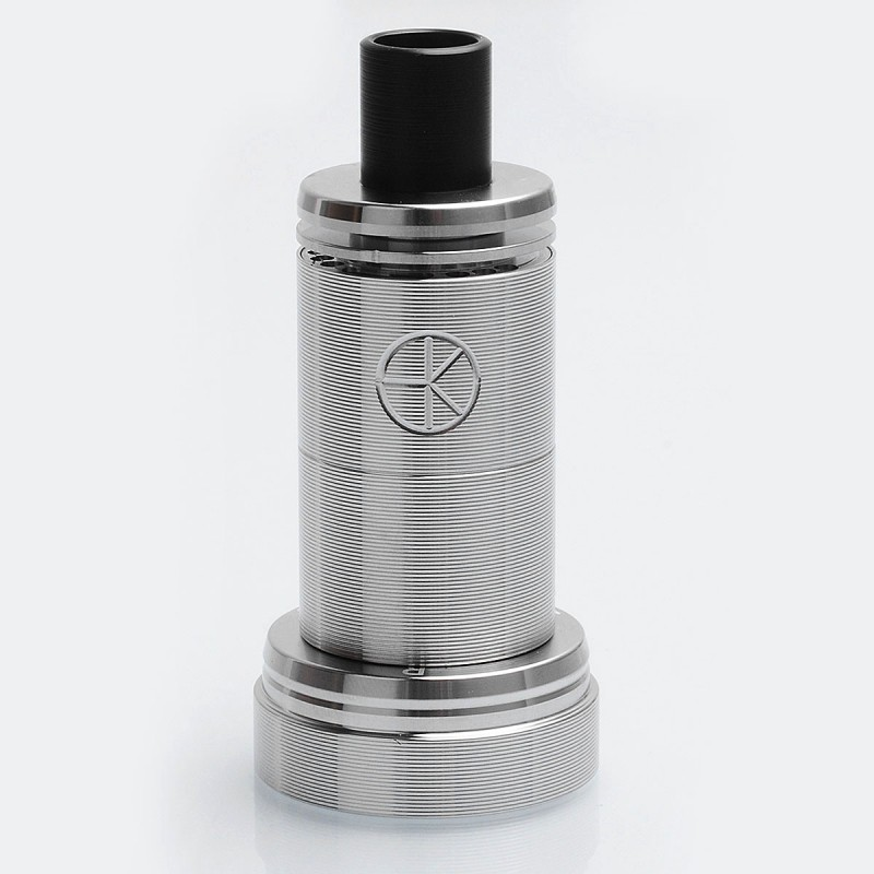 ShenRay Das Tank Ding Style RTA Rebuildable Atomizer - Matte Silver, 316 Stainless Steel, 4ml, 22mm Diameter