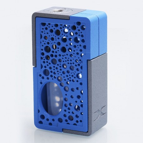 Authentic YiLoong SQ XBOX MOD-03 3D Printed Squonk Mechanical Box Mod - Blue, 1 x 18650, 13ml Dropper Bottle