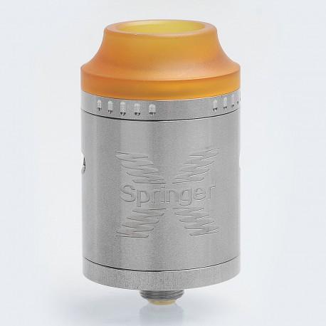 Authentic Tigertek Springer X RDA Rebuildable Dripping Atomizer - Silver, Stainless Steel, 24mm Diameter