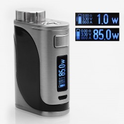 Authentic Eleaf iStick Pico 25 85W TC VW Variable Wattage Mod - Silver, Stainless Steel, 1~85W, 1 x 18650