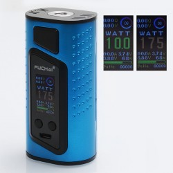Authentic Sigelei Duo-3 2-Cover Version 255W TC VW Variable Wattage Box Mod - Blue, 10~255W, 2 / 3 x 18650