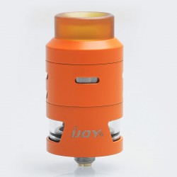 Authentic IJOY RDTA 5S Rebuildable Dripping Tank Atomizer - Orange, Stainless Steel, 2.6ml, 24mm Diameter