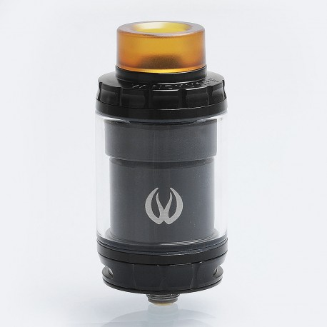 Authentic Vandy Vape GOVAD RTA Rebuildable Tank Atomizer - Black, Stainless Steel + Pyrex Glass, 4ml, 24mm Diameter