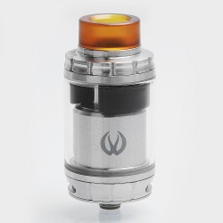 Authentic Vandy Vape GOVAD RTA Rebuildable Tank Atomizer - Silver, Stainless Steel + Pyrex Glass, 4ml, 24mm Diameter