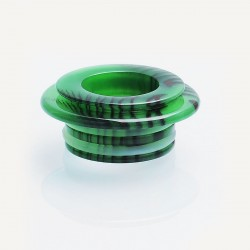 510 Drip Tip Adapter for TFV8 / TFV8 Big Baby / TFV12 Tank Atomizer - Green + Black, Epoxy Resin