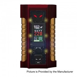 Authentic Sigelei MT Combines 220W TC VW Variable Wattage Mod - Dark Red, 10~220W, 2 x 18650