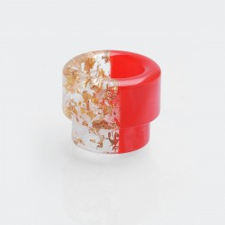 810 Drip Tip for 528 Goon / Goon LP RDA / Kennedy 24 / 25 RDA / Battle RDA - Red + Gold Sequins, Resin, 13mm