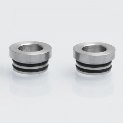 Authentic Iwodevape 810 to 510 Drip Tip Adapter for RDA / RTA - Silver, Stainless Steel, 12.5mm Diameter (2 PCS)